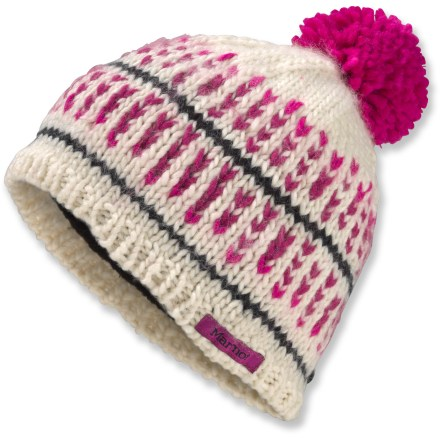 Entertainment Topped with a colorful pom-pom and lined with comfortable polyester microfleece, the Marmot Ellie hat is your go-to piece for winter fun. Soft acrylic knit offers excellent warmth; it also breathes well when you're active and dries quickly when damp. Marmot Ellie hat has polyester microfleece headband lining that is comfortable next to skin. - $27.93