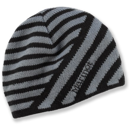 Entertainment Make your ski days and strolls through town a bit more stylish with the Marmot Shaymus hat. Soft acrylic knit offers excellent warmth; it also breathes well when you're active and dries quickly when damp. Polyester microfleece headband lining is comfortable next to skin. - $16.83