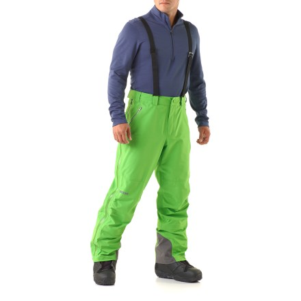 Ski The Marmot Spire Bib shell pants let you carve your own path in the snow with a relaxed fit and fully adjustable features. - $179.83