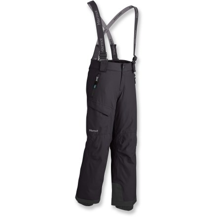 Ski The Marmot Edge insulated pants let boys take to the snow in waterproof and breathable comfort. - $61.83