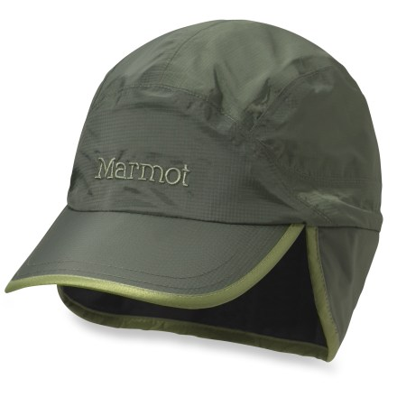 Sports Keep your head warm and dry on cold-weather treks into the mountains with the Marmot PreCip Insulated baseball cap. Waterproof, breathable PreCip material sheds rain and snow. PrimaLoft(R) synthetic insulation offers lofty warmth without bulkiness and excellent packability. Breathable DriClime(R) polyester lining combines with polyester mesh to wick away moisture and dry quickly. Earflaps keep your head toasty warm on chilly days. Marmot PreCip Insulated baseball cap has a rear drawcord adjustment to secure the fit. - $30.93