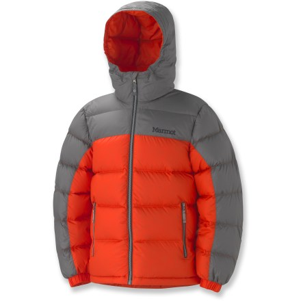 Snowboard The light and warm Guides Down Hoodie jacket for boys provides comfort for extreme conditions. Use it as a thermal mid layer underneath a waterproof shell for great protection against wet and cold. - $140.00