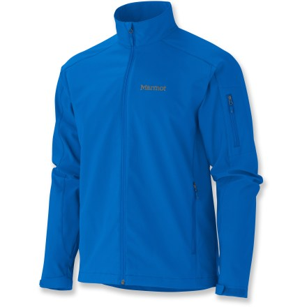 The Marmot Approach soft-shell jacket covers a huge range of weather conditions and uses. Soft shell fabric features 4-way stretch for the ultimate in comfort; this durable fabric resists abrasion, wind and water. Fabric is treated with a Durable Water Repellent finish to repel light moisture and stains. DriClime(R) polyester-lined collar and chin guard wick away moisture and are soft against your skin. Hem drawcord and rip-and-stick adjustable cuffs. Marmot Approach jacket features zippered hand and sleeve pockets. Closeout. - $82.93