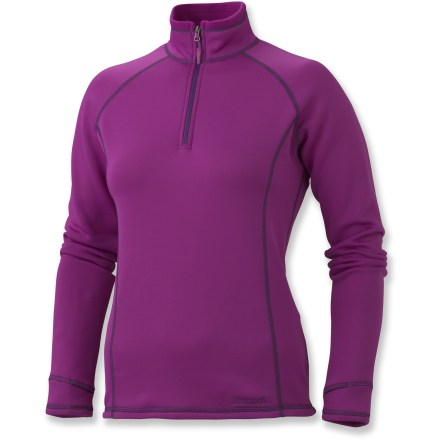 The Marmot Power Stretch Half-Zip Top features Polartec(R) Power Stretch(R) fabric that provides moisture management, wind protection and amazing stretch for total comfort in cool weather. - $69.73