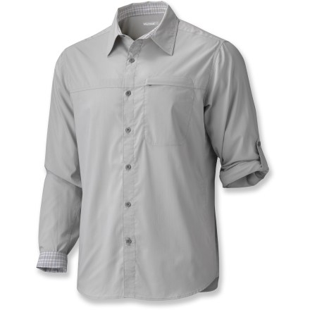 The Marmot Balcon shirt keeps you comfortable while you're traveling and trekking. - $48.73