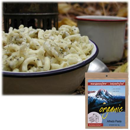 Camp and Hike A blend of sharp white cheddar cheese, garlic and basil creates a delightful pasta meal. Made with all-natural, organic ingredients. Can be prepared in its own pouch; just add boiling water, stir and let stand before serving. Nutrition facts displayed here and on packaging may differ; information on packaging reflects actual contents. *Discount will be applied when you check out. Offer not valid for sale-price items ending in $._3 or $._9. - $6.93