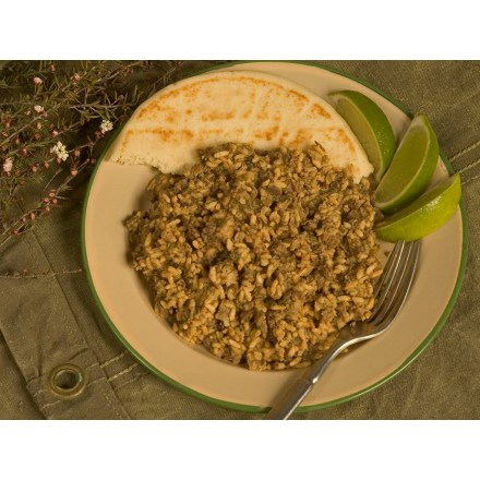 Camp and Hike MaryJanesFarm Organic Curry In A Hurry is a tangy blend of rice, lentils, cheese and curry, loaded with protein to give you the energy needed to make it through those long hikes. - $9.00