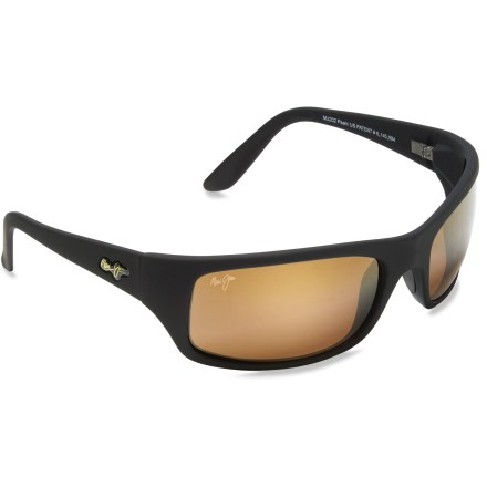 Entertainment Like the bay they were named for, the Maui Jim Peahi sunglasses boost colors in a big way, shading your eyes from the sun's harmful rays and reducing glare from water, sand and snow. - $229.00