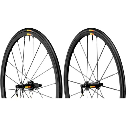Fitness Built for pure performance, the Mavic Ksyrium SLR wheelset is all about speed--featherweight, stiff and responsive speed--and comes outfitted with tires for race readiness out of the box. - $1,439.93