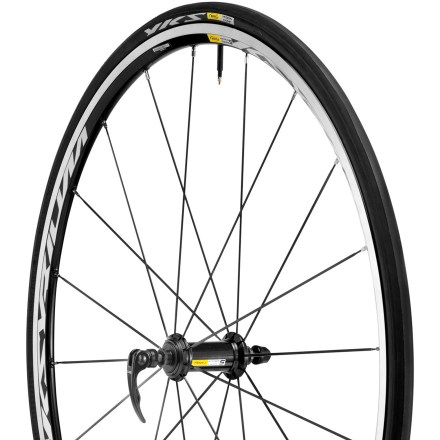 Fitness Mavic Ksyrium Equipe S front bike wheel delivers a fine balance between weight savings and strength and durability for an excellent, all-around wheel that won't break your budget. - $128.93