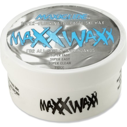 Ski Use Maxiglide Maxx Waxx with applicator to keep your skis gliding along smoothly without having to take the time to iron in wax. - $15.00