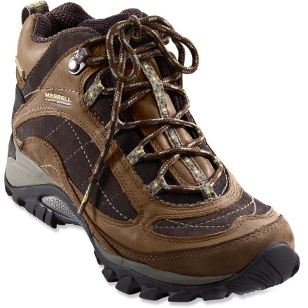 Camp and Hike Scramble in comfort! These Merrell Siren hiking boots supply adventurous spirits with waterproof protection and great looks. - $64.83