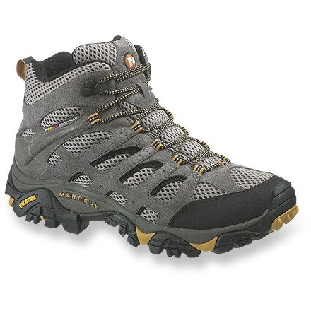 Camp and Hike The highly breathable Merrell(R) Moab Ventilator mid-height hikers work hard on all your active warm-weather endeavors. - $87.93