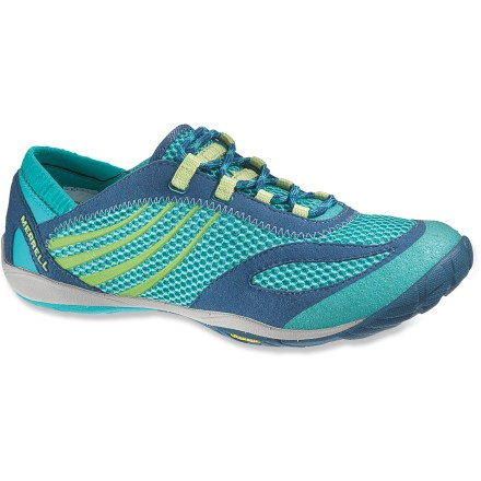 Fitness The Merrell Pace Glove cross-training shoes feature a lightweight minimalist design that helps protect feet and allows them to move naturally. - $49.83
