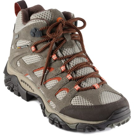 Camp and Hike The Merrell Moab Mid waterproof light hikers work hard on all your warm- and wet-weather active endeavors. - $103.93