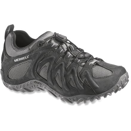Camp and Hike The Merrell Chameleon 4 Stretch hiking shoes offer slip-on ease, a snug quicklace fit and all-terrain versatility to match your adventurous jaunts. - $64.83