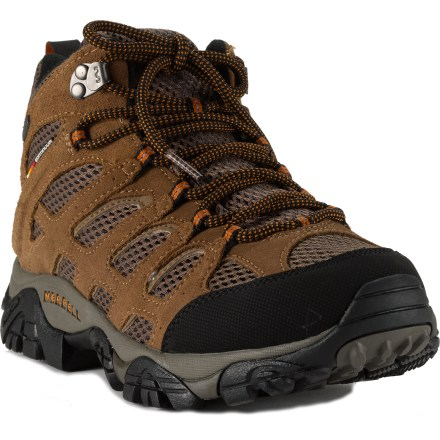 Camp and Hike The men's Merrell Moab Mid waterproof light hikers work hard on all your warm- and wet-weather active endeavors. - $103.93