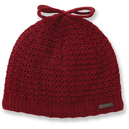 Ski The beautifully knit Merrell Cecelia beanie will find its way into all things winter-from sledding to snowshoeing to sipping cider. Cozy acrylic keeps you warm without being itchy or uncomfortable. Fleece lining is soft against your skin. Ffleece earband boosts heat retention. Closeout. - $10.83