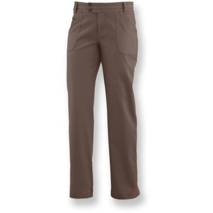 Camp and Hike Made with a hefty cotton canvas fabric, the Merrell Daphne pants are a year-round, do-everything addition to your wardrobe. Cotton canvas takes abuse and only gets more comfortable with age; elastane adds stretch and shape retention. Merrell Daphne pants feature front pockets and crackle buttons for an easy-going style. Closeout. - $22.83