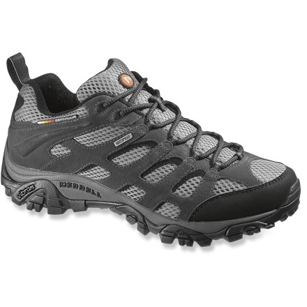 Camp and Hike Light and versatile, these Merrell Moab Waterproof hiking shoes deliver protection from the elements in an agile, tough and trail-ready design. - $95.93