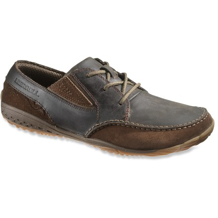 The Merrell Reach Glove shoes let you take your beloved barefoot style to the office, with handsome leather uppers and classy lace-up style. - $26.83