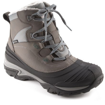 Camp and Hike Great all-around winter performers, the Merrell Snowbound Mid Waterproof winter boots offer an insulated upper and comfortable construction and support for all-day wear. - $59.83