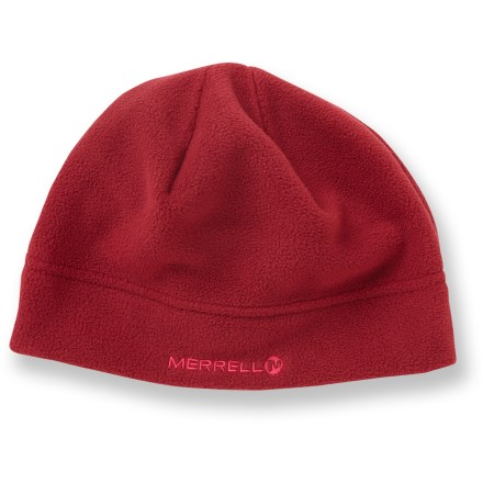 Ski The Merrell Conductor Fleece hat is warm and stylish-just what you want from a winter hat. Soft, non-pilling polyester fleece retains warmth, continuing to insulate even if wet. Closeout. - $8.93