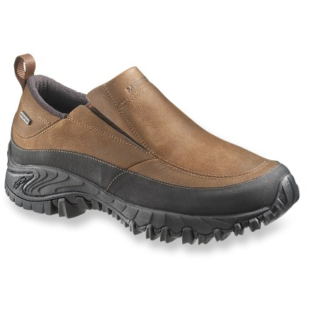 Treat your feet to rugged after-sport comfort with these Merrell Shiver Moc 2 waterproof shoes, which offer waterproof protection and warm fleece linings for all-winter wear. - $69.83