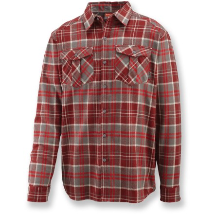 The Merrell Cedrus plaid shirt brings you the classic comfort of cotton wherever you roam. Cotton is naturally soft, breathable and comfortable. Dual button-close chest pockets. Closeout. - $21.83