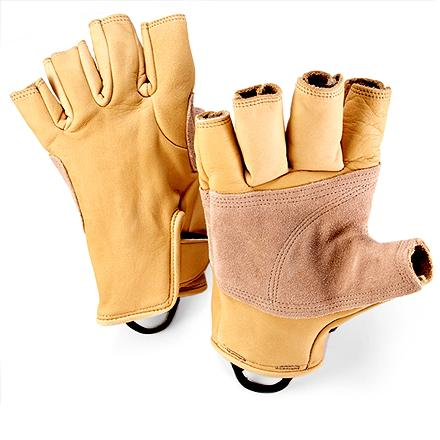 Climbing Designed for use as a belay glove, on big walls and running ropes courses, these leather gloves provide protection without sacrificing functionality. - $24.93