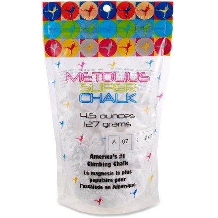 Climbing Metolius Super chalk is specially formulated for rock climbing to help keep your hands dry as you push through hard moves. - $4.50
