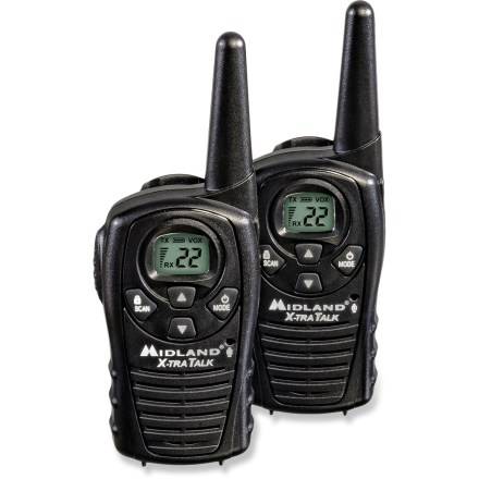 Camp and Hike This pair of water-resistant Midland LXT118 2-way radios is compact, easy to use and perfect for communicating with family and friends during your outdoor adventures. - $11.93