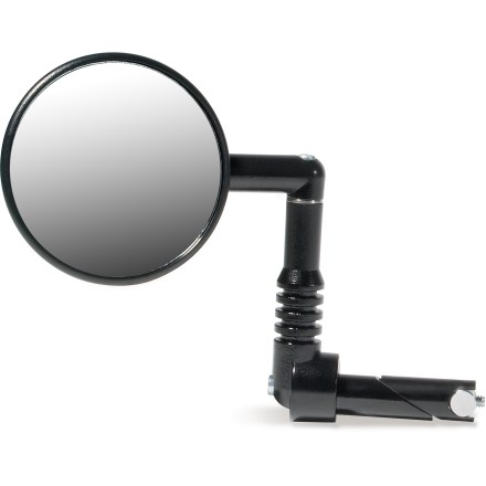 MTB This rear-view mirror is designed specifically for mountain bikes and installs easily in the end of your handlebars. - $18.00