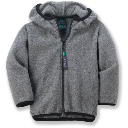 The Molehill Hooded Fleece jacket keeps your babes warm and comfortable. Soft, non-pilling polyester fleece retains warmth, continuing to insulate even if wet. Special buy. - $21.83
