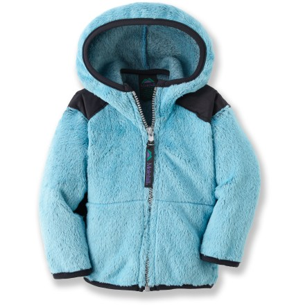 The Molehill High-Loft Hooded Fleece jacket keeps them toasty warm when exploring the outdoors. Polartec(R) Thermal Pro(R) polyester fleece has a knit exterior and a soft, brushed inner face; it's breathable, quick-drying, warm and durable. Special buy. - $27.83