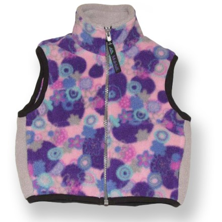 This versatile Molehill fleece vest for toddlers and infants offers great layering for cool-weather play. Polartec(R) fleece offers excellent warmth for its weight, dries quickly and insulates even when wet. Full-length zipper allows easy on/off; stretch binding at armholes and hem improve fit. On-seam hand pockets. Closeout. - $6.73