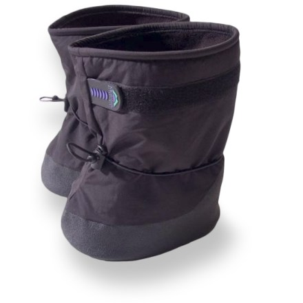 Entertainment Little feet will love the Molehill Sno Moc booties, with their soft fleece interior and waterproof shell fabric for winter warmth. Durable nylon shells feature a waterproof, breathable coating to keep feet dry. Non-pilling, fleece linings feel soft on skin. Rip-and-stick closures allow easy on/off; cinching gauntlets keep snow out. Gripping PVC outsoles offer light traction. Closeout. - $11.83