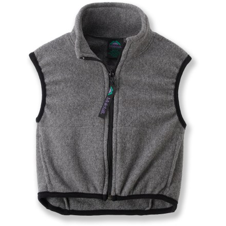The Molehill fleece vest for toddlers keeps them warm and cozy. Polyester fleece offers excellent warmth for its weight, dries quickly and insulates even when wet. Beefy full-length zipper for easy on/off; stretch binding at armholes and hem improve fit. On-seam handwarmer pockets. Special buy. - $15.83