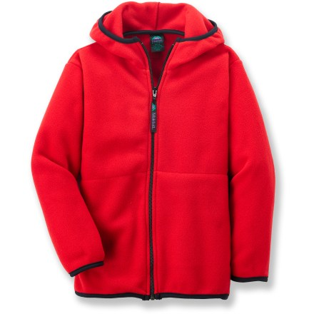 Keep them warm in the Molehill Hooded Fleece jacket. Polyester fleece is breathable, quick-drying, warm and durable. Hand pockets. Special buy. - $23.83