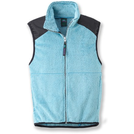 This versatile Molehill High-Loft fleece vest for kids is a great choice when extra warmth is a must. Polartec(R) Thermal Pro(R) polyester fleece has a knit exterior and a soft, brushed inner face; it's breathable, quick-drying, warm and durable. Beefy full-length zipper for easy on/off; stretch binding at armholes and hem improve fit. On-seam handwarmer pockets. Special buy. - $16.83