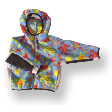 The Molehill Hooded Fleece jacket keeps toddlers and infants toasty warm for outdoor adventures. Polartec(R) fleece has a knit exterior and a soft, brushed inner face; it breathes well and dries quickly. Hood adds warmth at a moment's notice. Nylon elbow patches boost durability. Hand pockets. Closeout. - $13.73