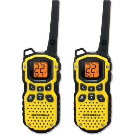 Camp and Hike The waterproof Motorola Talkabout MS350R 2-way radios are by no means fairweather friends. They offer high-performance communications in all kinds of extreme outdoor situations-and they float! - $69.83