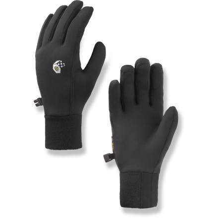 Fitness These Mountain Hardwear Power Stretch women's gloves fit snugly on your hands, offering great dexterity and warmth. - $21.93