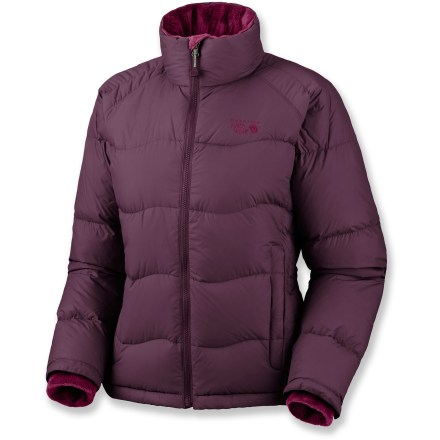Stay warm in the down-filled Lodown jacket from Mountain Hardwear. Perfect under a shell on stormy days or on its own on chilly nights. Quality 650-fill-power goose down is warm, lightweight and compressible. Interior windflap keeps the cold wind out; chin guard protects skin from zipper abrasion. Soft and cozy fleece-lined collar. Inner stretch cuffs seal in warmth. Mountain Hardwear Lodown jacket has zip handwarmer pockets and an interior zip pocket. - $125.93