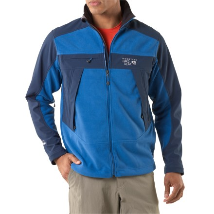 Camp and Hike A Mountain Hardwear original, the Mountain Tech jacket is made from windproof fleece and reinforced with soft-shell paneling. This durable, weather-resistant jacket is a great backcountry choice. - $89.83
