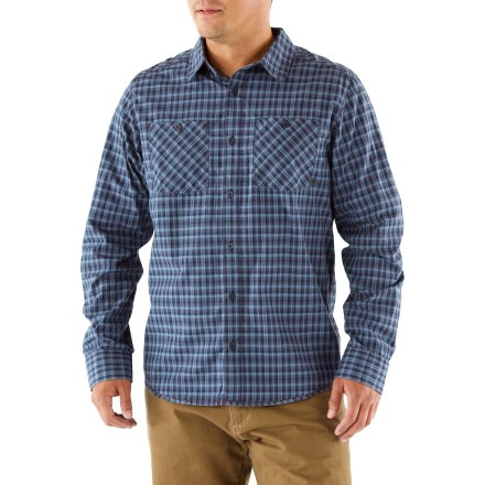 The Mountain Hardwear McHenry shirt features small plaid checks and contrasting stitching for a stylish look you can take to the office or out on the town. Cotton is naturally soft, breathable and comfortable. Button-close chest pockets hold your essentials. - $44.93