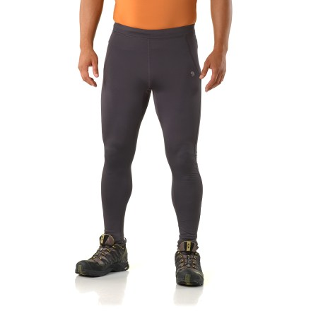 Fitness The Mountain Hardwear Super Power tights for men are designed to maximize comfort during cold-weather runs. Moisture-wicking brushed fabric offers excellent performance, high breathability and a soft fee against skin. Wide, low-profile waist features an internal drawcord to adjust the fit. You'll run farther without chafing thanks to the flatlock seams. Inseam gusset enhances freedom of motion, and zippered back pocket stores extras. The Mountain Hardwear Super Power tights offer a next-to-skin fit. - $55.93