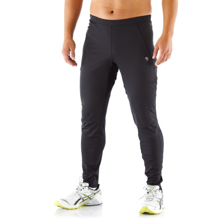 Fitness The men's Mountain Hardwear Effusion Power tights feature a freedom-loving wide range of movement, high breathability and plenty of wind resistance for cool- to cold-weather pursuits. - $31.83