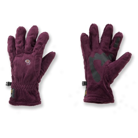 Camp and Hike The Mountain Hardwear Posh gloves are perfect for walks down snowy streets and hikes in the mountains. Soft and silky polyester fleece blocks wind and cold. Welded palm and finger patches add wear resistance and improve grip. The Mountain Hardwear Posh gloves are designed specifically for women. - $20.93
