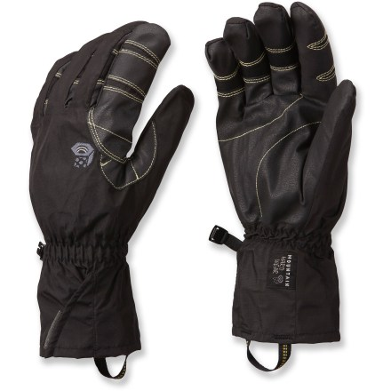 Ski The fully waterproof Mountain Hardwear Epic gloves keep hands warm and dry while swinging ice tools, grasping ski poles and packing snowballs. - $31.83